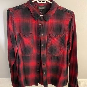 Topshop plaid button up